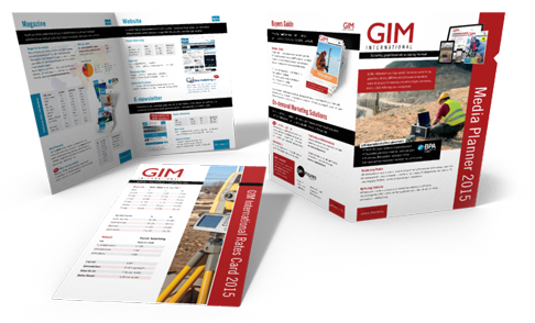 Ontwerp van folder GIM International