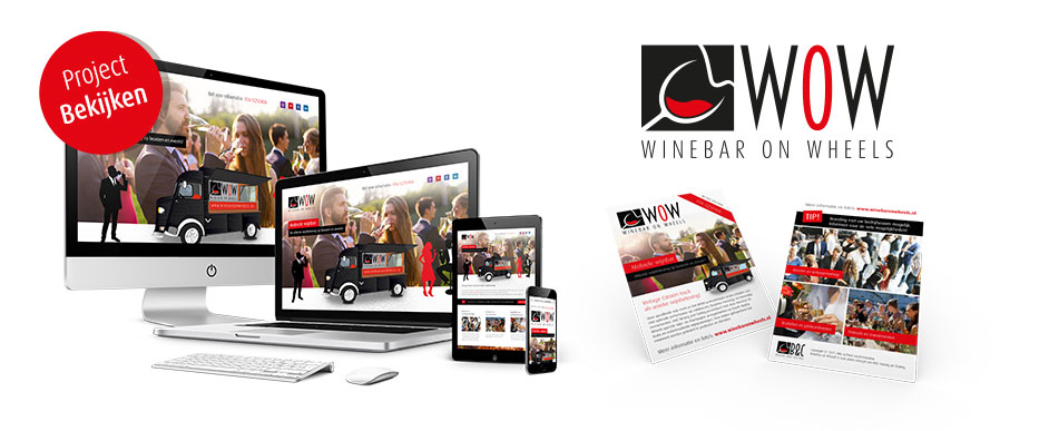 Logo en website ontwerp voor Winebar On Wheels - Concept van B&C Nosing and Tasting